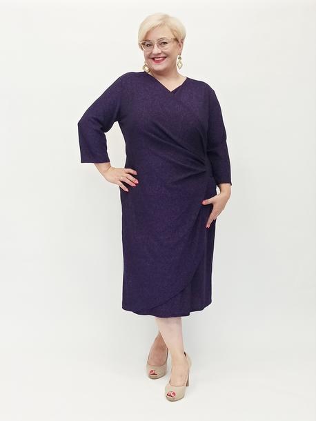 Sukienka brokatowa fioletowa