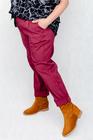 Spodnie bawełniane bordowe (3)