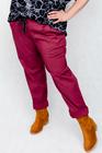 Spodnie bawełniane bordowe (4)