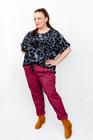 Spodnie bawełniane bordowe (5)