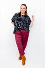 Spodnie bawełniane bordowe (2)