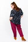 Spodnie bawełniane bordowe (6)