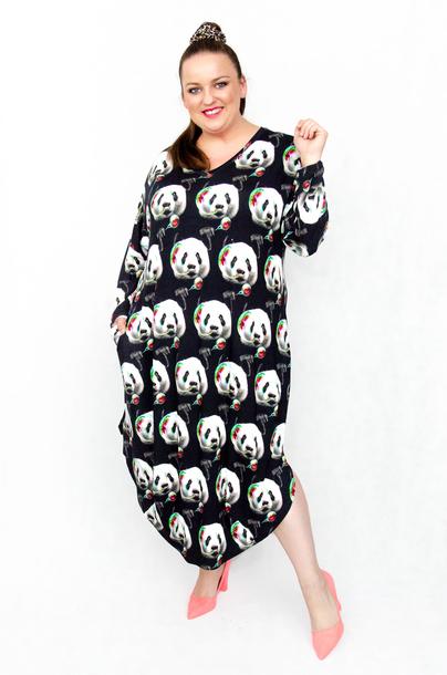 Sukienka długa jajko panda