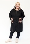 Płaszczyk bawełniany czarny w krateczkę (1)