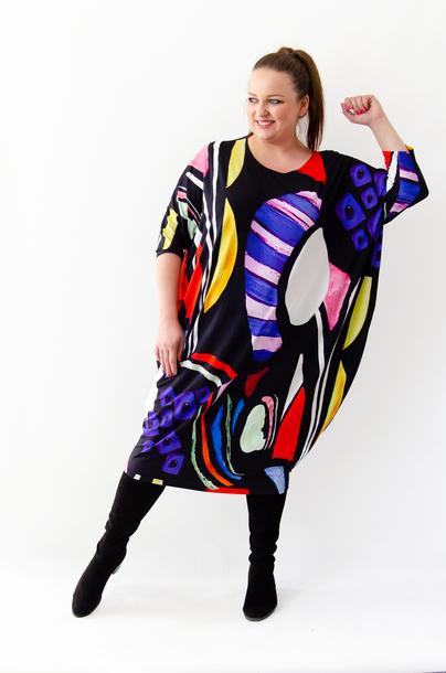 Sukienka AŁŁA geometria (1)