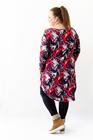 Sukienka JAJKO czerwona abstrakcja (3)