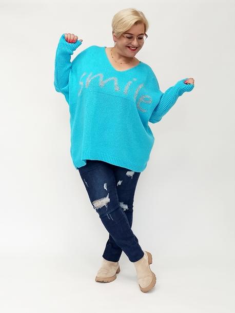 Sweterek smile niebieski