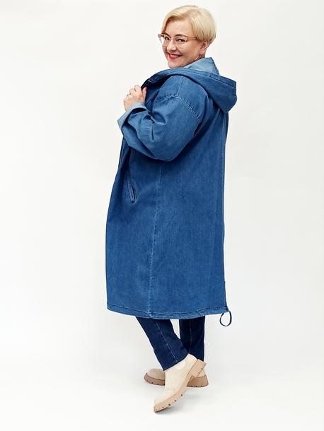 Płaszczyk jeansowy z kapturem