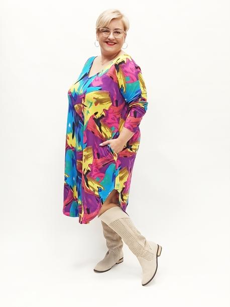 Sukienka jajko kolorowy mix