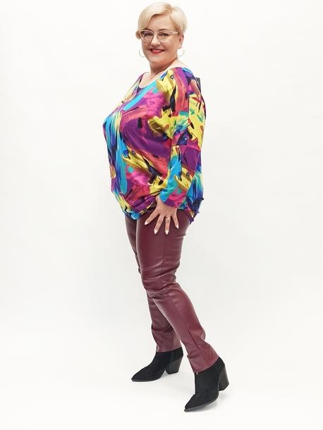 Bluzka kimono kolorowe mazaje