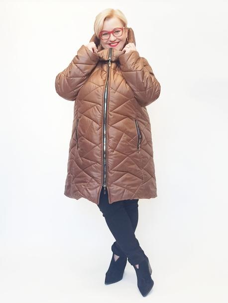 Płaszcz pikowany brązowy
